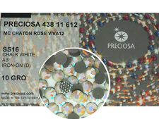 HOTFIX, 1440 Preciosa Genuine Czech Crystals 16ss Chalk White AB Viva Iron-on