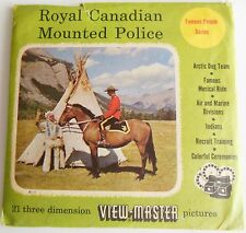 Vintage Royal Canadian Mounted Police Viewmaster Reels & Book Famous People 1956