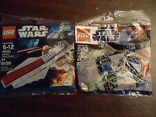 Lego STAR WARS 30053 & 8028 REPUBLIC ATTACK CRUISER & TIE FIGHTER 8028 NIB HTF