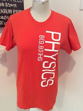 "New Womens Physics Orange Tshirt Top Size S M 36"" Chest School Physics Class USA"