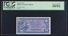 Series 611 Military Payment Certificate 5 Cents FIVE Cents PCGS 68 PPQ