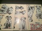 ORIGINAL 101 DALMATIANS STUDIO WINDOW CLINGS THEATERS ADVERTISEMENT NEVER USED