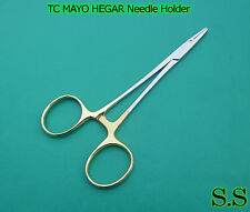 "TC MAYO HEGAR NEEDLE HOLDER 5.5"" SERR DENTAL SURGICAL"