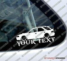 Custom YOUR TEXT Lowered car sticker - for Subaru Impreza WRX wagon GF8 JDM