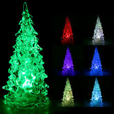 Decorative Crystal Ice Sculpture Effect Colour-Changing LED Christmas Tree