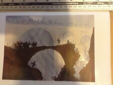 1920s Colour Woodcut Print The Devil's Bridge by Urushibara after Brangwyn
