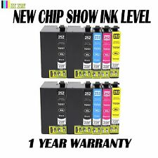 10 Pack New T252XL Ink Cartridge For Epson Workforce WF3620 WF3640 WF7110 WF7620