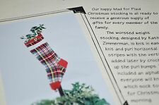 Knit One Crochet Too Knitting Pattern Mad for Plaid Christmas Stocking