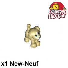 Lego - 1x Animal petit chien small dog beige/tan 93088pb03 NEUF