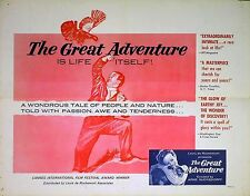 GREAT ADVENTURE 1953 Arne Sucksdorff US HALF SHEET POSTER