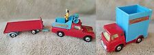 LOT OF VINTAGE CORGI CHIPPERFIELDS CIRCUS, LAND ROVER, PLATFORM TRAILER, BEDFORD
