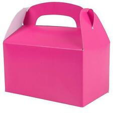 12 HOT PINK COLOR TREAT BOXES Birthday Party Loot Goody Bags #ST18 FREE SHIPPING