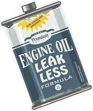 LEAK LESS Engine OIL CAN Retro Ratlook Motif Euro Rat Style Vinyl car sticker