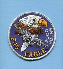 McDONNELL DOUGLAS BOEING F-15 EAGLE 2000 HOURS USAF FS Fighter Squadron Patch