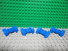 Lego 4 Blue 2x4 mudguard flared with headlights car truck NEW
