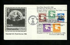 Ranto Cachet US FDC #2279 on 2277 w/ 1735 1818 Domestic US Postage earth 1988
