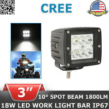 3inch 18W CREE LED Work Light Square Spot UTE CUBE Ford Offroad POD 4x4WD Motor