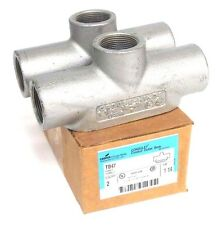 """NIB COOPER CROUSE HINDS TB47 CONDUIT BODY OUTLET BOX FORM 7, 18.5 CU IN, 1-1/4"""""""