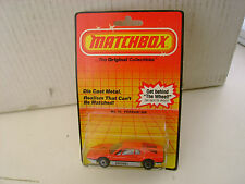 1983 MATCHBOX SUPERFAST #70 RED SILVER/GRAY 308 FERRARI NEW ON CARD