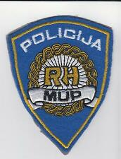 MUP RH REPUBLIC of CROATIA  REGULAR POLICE - sleeve patch vintage - Rarre !