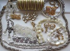 Mixed Lot VINTAGE  Sparkly/Pearly Costume Jewellery-For Wear/Reselling/Crafting