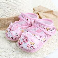 Toddler Kids Baby Girl Shoes Bowknot Boots Cloth First Walker Soft Crib Shoes