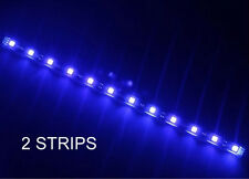 """BLUE 12"""" 5050 SMD LED STRIPS  2 STRIPS FITS ALL CARS TOTAL OF 24 LEDS"""