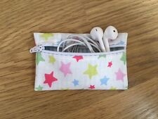 Handmade Earphone Earbud Case Made With Cath Kidston Mini Shooting Star Fabric