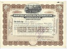 BOSTON MEXICAN PETROLEUM........1920 ORDINARY SHARES CERTIFICATE