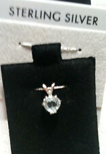 SKY BLUE TOPAZ PENDANT HEART SOLITAIRIE 1.55 CT-STERLING NO CHAIN-SET IN TEXAS