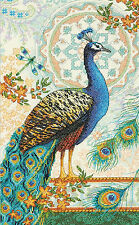 Cross Stitch Kit ~ Gold Collection Royal Peacock Majestic Bird #70-35339