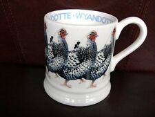 EMMA BRIDGEWATER WYANDOTTE CHICKEN HEN MUG HALF PINT BRITISH BIRDS RARE