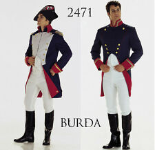 Burda 2471 Sewing Pattern Military Uniform Regency Men Costume Movie 36-48Patron