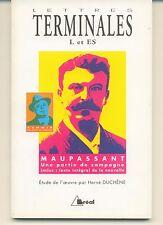Une Partie De Campagne Maupassant / Renoir - Terminales L Et Es