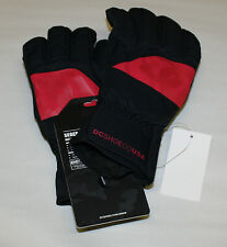 DC SHOES SEGER 13 GLOVES WOMENS SIZE SMALL BLACK/RED NWT FREE SHIPPING