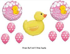 IT'S A GIRL DUCK BABY SHOWER BALLOONS Decorations Supplies Duckie Ducky Bubbles
