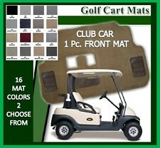 Club Car Golf Cart Floor Mat - One Piece Front Carpet Mat - 16 Colors Available