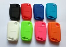 2 x VW MK7 GOLF SILICONE KEY FOB COVER RUBBER CASE PINK BLUE RED BLACK R