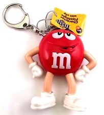 American Candy 3D LED Light Torch Keychain - Mini Flashlight M&M's Chocolate Red