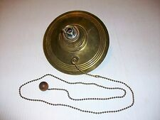 ANTIQUE BRASS CEILING CANOPY CAP WITH PULL CHAIN SWITCH LOOP CHANDELIER LAMP
