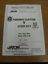 19/08/1990 Parkway Clayton v Stoke City [Friendly] (4 Pages). Footy Progs (aka b