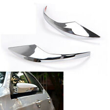 Chrome Car Side Door Rearview Mirror Cover Trim Mirrors Strips For 14-16 Corolla