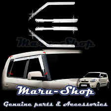 Chrome Door Window Vent Visor Deflector for 08~13 Kia Soul