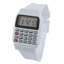 Unsex Silicone Multi-Purpose Time Electronic Wrist Calculator Watch WT
