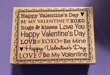 Hero Arts Rubber Stamps Stamp Be My Valentine Message Background K5171