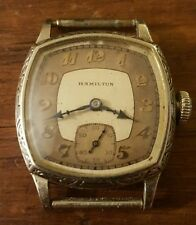 Circa 1928 HAMILTON 987-F Cushion Case Men's Dress Watch 14K GF