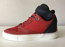 BALENCIAGA Neoprene Strap High-Top Sneakers. Size 44