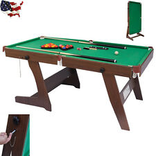 6ft Deluxe Pub Style Folding Snooker and English Pool Table Billiard Indoor Game