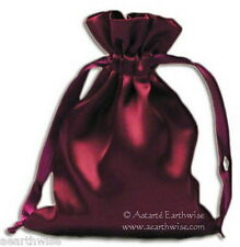 1 x SATIN BAG MOJO BAG SPELL BAG Wicca Witch Pagan Goth HERB BAG SATIN POUCH