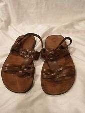 Eder Shoes Sandals * 9.5 US, EU 41 * Brown Straps, Studded Leather * Italian